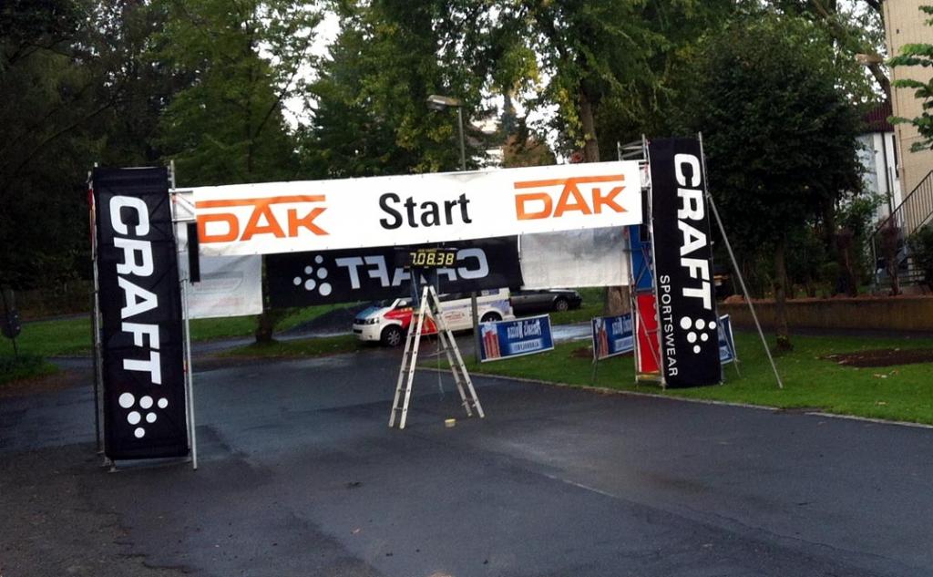 Startbereich Fichtelgebirgs-Nordic-Walking-Marathon 2014