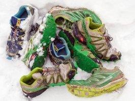Nordic-Walking-Schuhe 2014 im Schnee