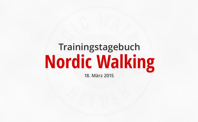 Trainingstagebuch: Nordic Walking am 18.03.2015 in Hof