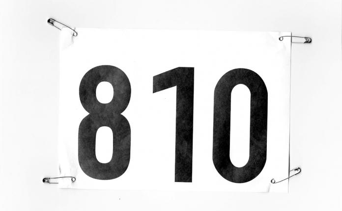 Startnummer Nordic-Walking-Halbmarathon beim Göltzschtallauf 2015