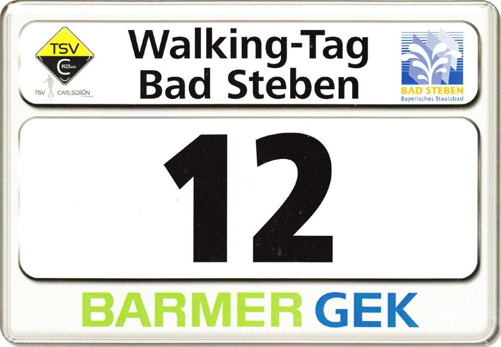 Nordic-Walking-Tag Bad Steben 2015 Startnummer